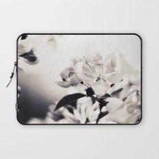 Black and White Flowers 2 Laptop Sleeve