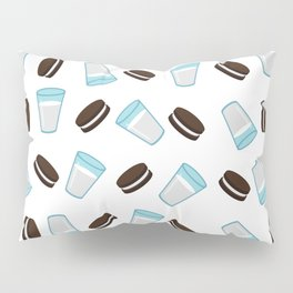 Oreo and milk pattern Pillow Sham