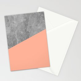 Geometry 101 Sweet Peach Pink Stationery Cards