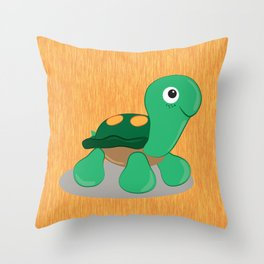 The cute turtle Throw Pillow