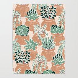 Succulent's Tiny Pots Poster