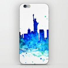 New York, watercolor iPhone Skin