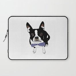 Boston Terrier with a tie Laptop Sleeve