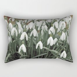 Snowdrop Galanthus design Rectangular Pillow