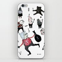 allyson johnson iPhone & iPod Skins featuring Minis Johnson by Franck Chartron