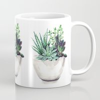 succulents Mugs featuring Succulents by Bridget Davidson