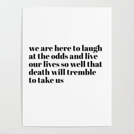 we are here to laugh Poster