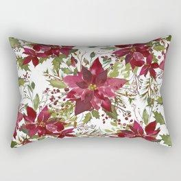 Poinsettia Flowers Rectangular Pillow