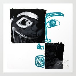 La Bleu Ligne Art Print