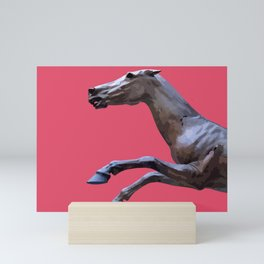 HORSE ON PINK Mini Art Print