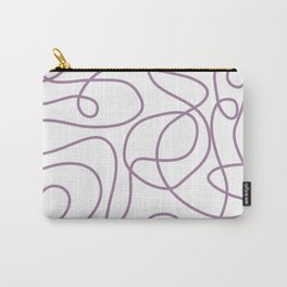 Doodle Line Art | Soft Purple Lines on White Background Carry-All Pouch