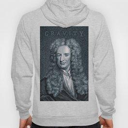 Gravity / Vintage portrait of Sir Isaac Newton Hoody