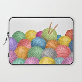 Two Crochet Hooks And A Lot Of Yarn Laptop Sleeve