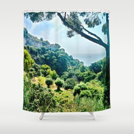 French Riviera Haven Shower Curtain