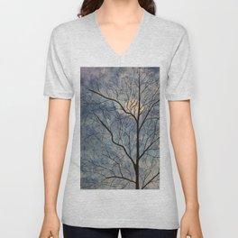 Winter Tree (Moon) Unisex V-Neck
