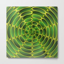 Filled green ellipses Metal Print