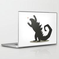 godzilla Laptop & iPad Skins featuring Godzilla by Arsyl Art
