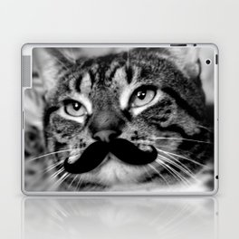 He's a Cat with a Mustache Laptop & iPad Skin