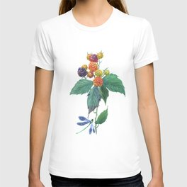 Dragonfly and blackberries T-shirt