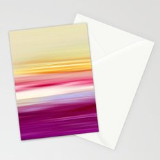 abstract sundown Stationery Cards