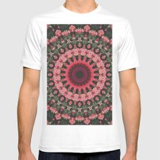 Spiritual Rhythm Mandala MEDIUM White Mens Fitted Tee