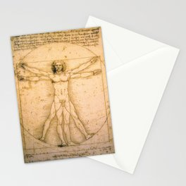 Vitruvian Man by Leonardo da Vinci Stationery Cards