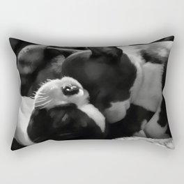 Sleeping Beauties - Boston Terrier Rectangular Pillow