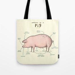 Anatomy of a Pig Tote Bag