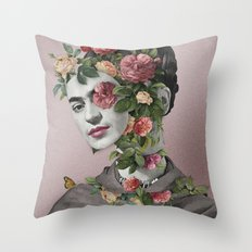 Frida Floral II Throw Pillow