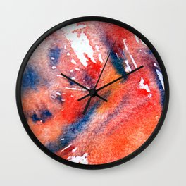 Symphony in blue minor I Wall Clock