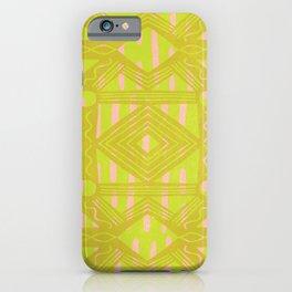 vintage kantha: chartreuse iPhone Case
