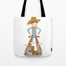 Cowboy in a lonely town Tote Bag
