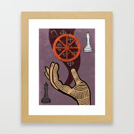 The Chariot Tarot card Framed Art Print