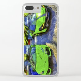 Dubai Super Cars Art Clear iPhone Case