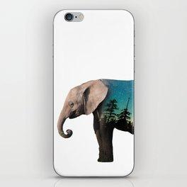 Elephant Double Exposure iPhone Skin