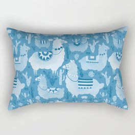 Alpacas and cacti Rectangular Pillow