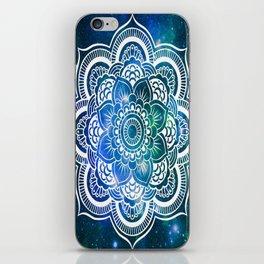 Mandala : Blue Green Galaxy iPhone Skin