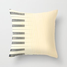 Antique Piano Background Throw Pillow