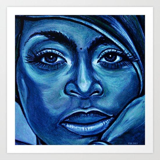 erykah?!../alternative-blue/ Art Print