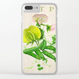 Sweet Peas and their Blossom Clear iPhone Case