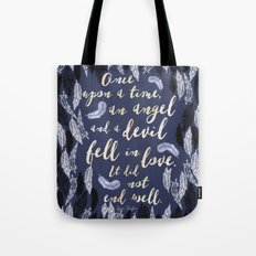 Daughter of Smoke and Bone quote design Tote Bag
