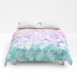 Mermaid Pastel Iridescent Comforters