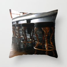 The Lonely Bartender Throw Pillow