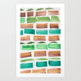 27  | 190304 Watercolour Painting Abstract Pattern Art Print