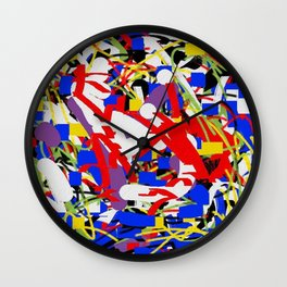 Color and color 3 Wall Clock