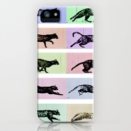 Time Lapse Motion Study Cat White and Color iPhone Case