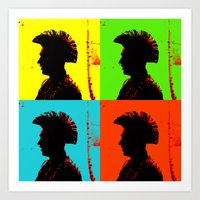 popart Art Prints featuring Popart punk by Kathleen Schulze