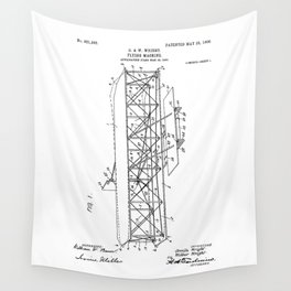 Wright Brothers Patent: Flying Machine Wall Tapestry