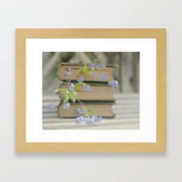 Forget Me Not Bookmark Framed Art Print