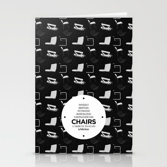 CHAIRS - A tribute to seats (special edition) Stationery Cards
